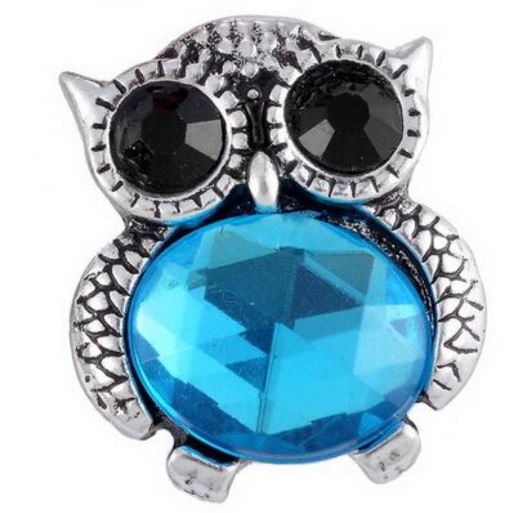 Jelly Belly Aqua Owl Snap Charm