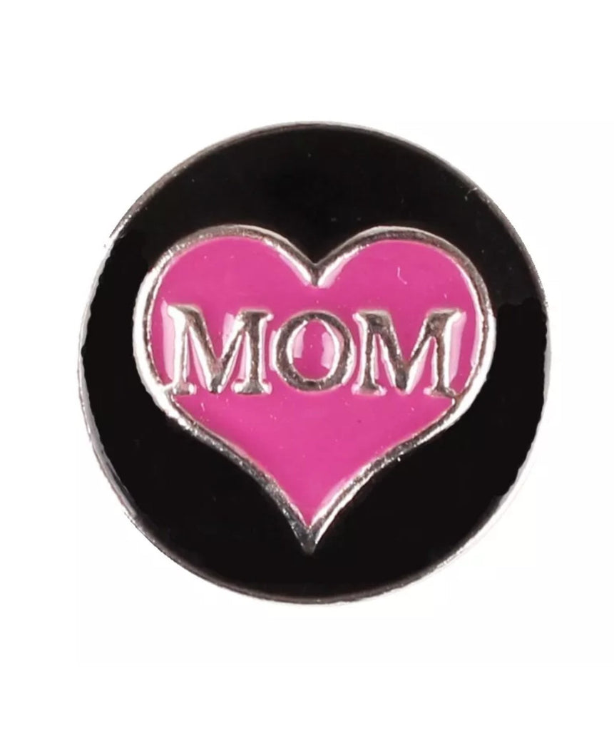 Heart Mom Snap Charm