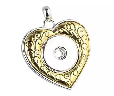 Heart of Gold Snap Charm Pendant