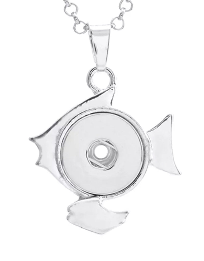 Fishing for Compliments Snap Charm Pendant