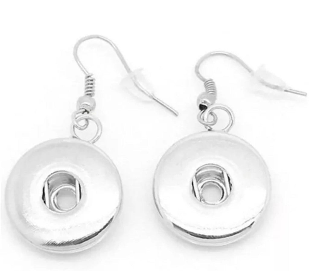 Dangle Snap Charm Earrings