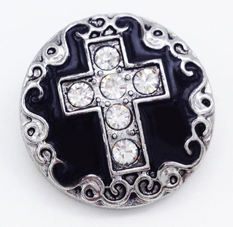Cross Scroll Edge Snap Charm