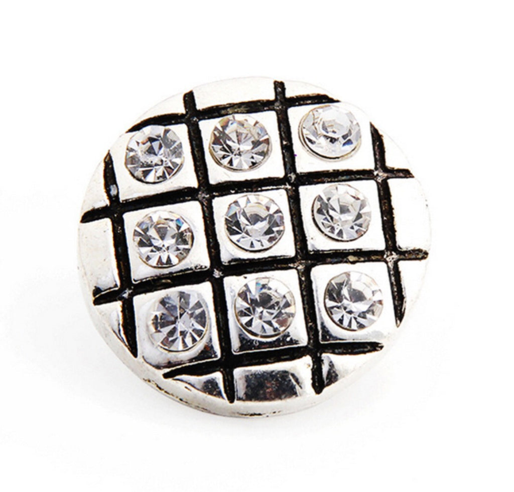 Checker Board Clear Snap Charm