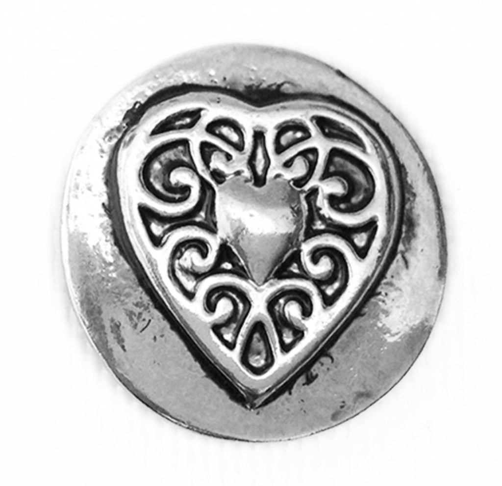 Filigree Heart Snap Charm