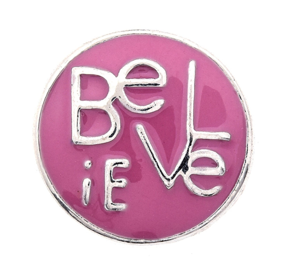Pink Believe Snap Charm
