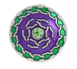 Emerald & Purple Enamel Snap Charm