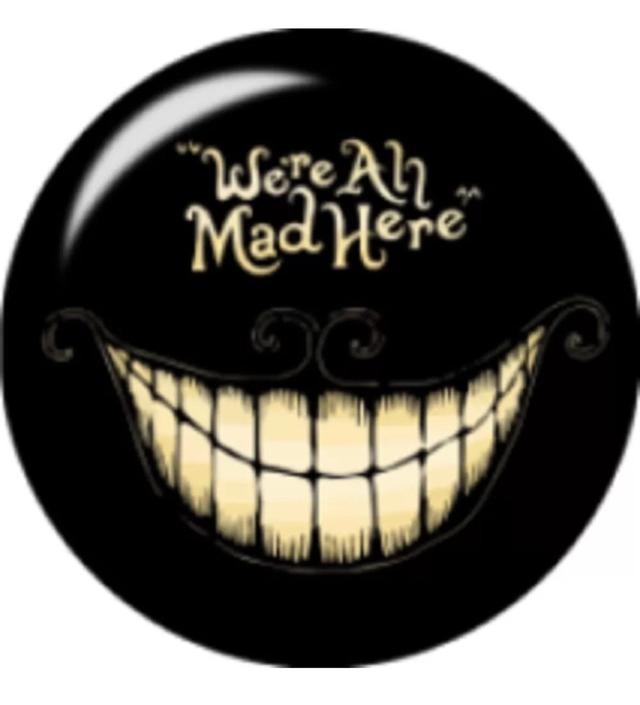 We're All Mad Here Glass Snap Charm