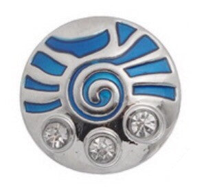 Marine Blue Crop Circle Snap Charm