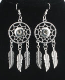 Dream Catcher Snap Charm Pendant & Earring Set