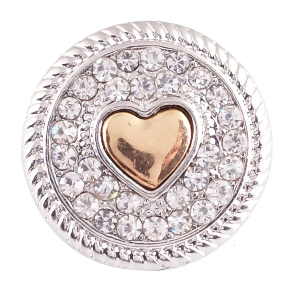 Hearts of Gold Snap Charm