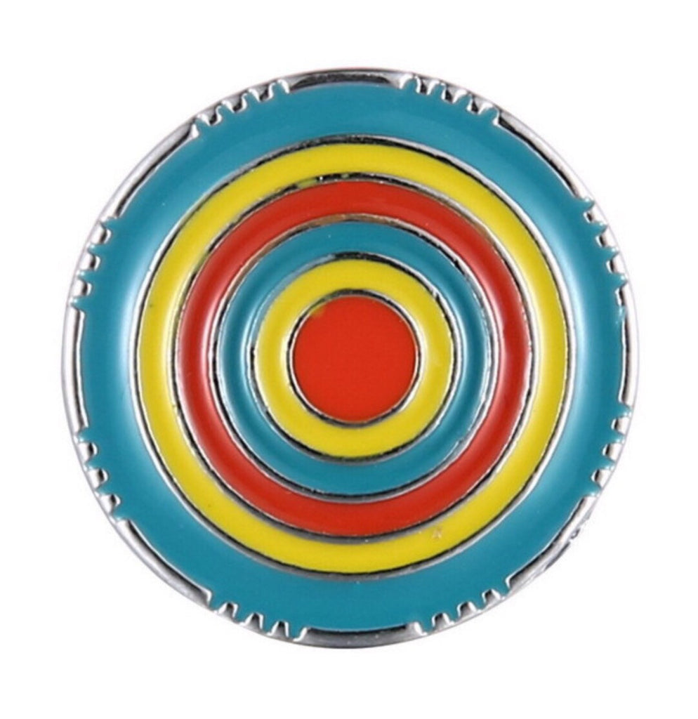 Colorful Target Snap Charm