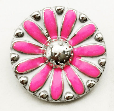 Daisy in Pink Snap Charm