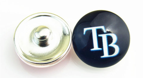 TB Rays Blue Glass Snap Charm