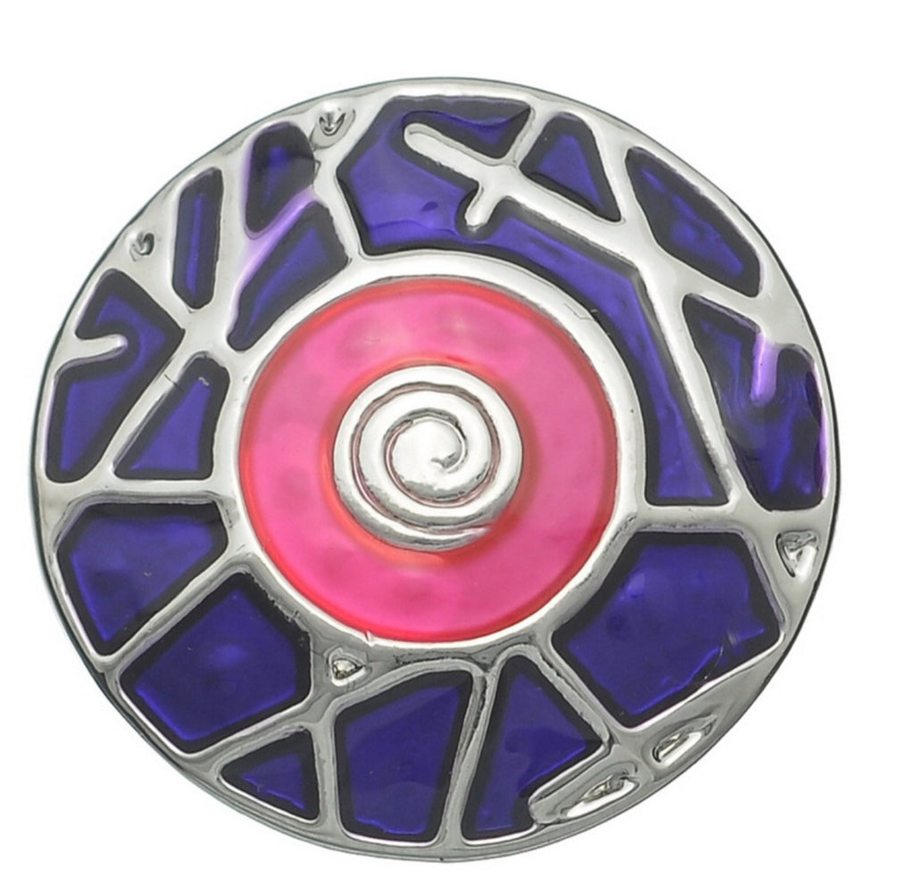 Bold Pink & Purple Snap Charm