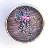 Doe Head Glass Snap Charm