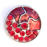 Bejeweled Bohemian Snap Charm Reds