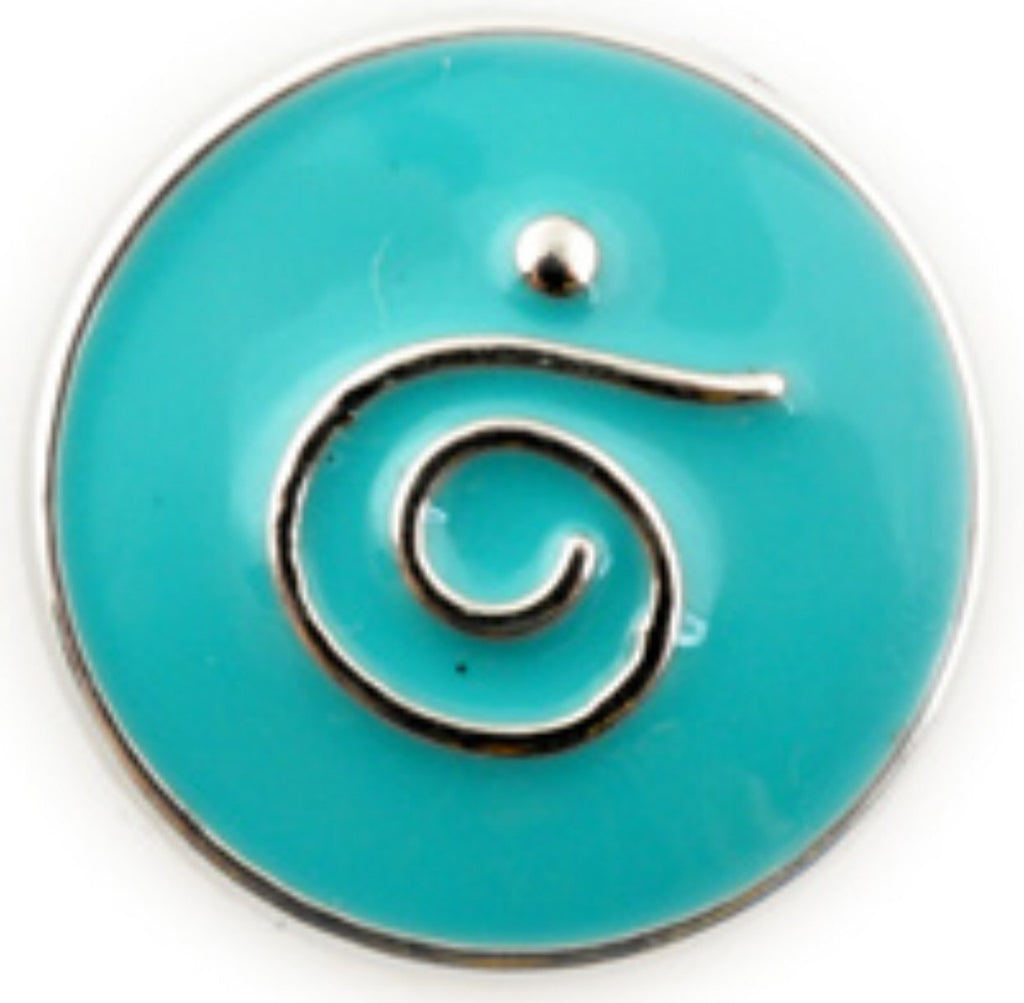 Rustic Swag Teal Quirky Snap Charm