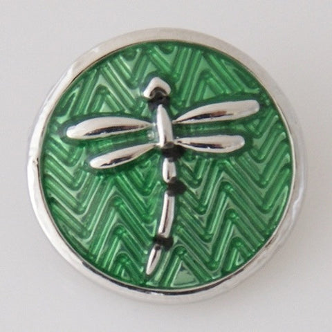 Dragonfly Green Snap Charm