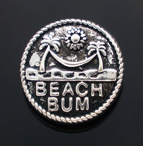 Beach Bum Snap Charm