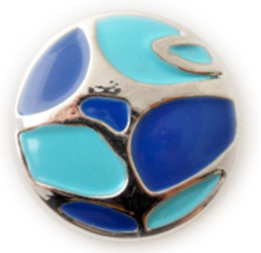 Shades of Blue Snap Charm