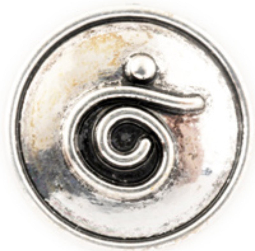 Quirky Swirl Silver Snap Charm