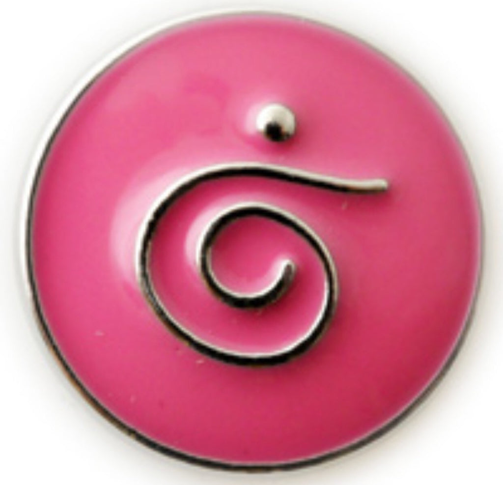 Quirky Swirl Pink Snap Charm