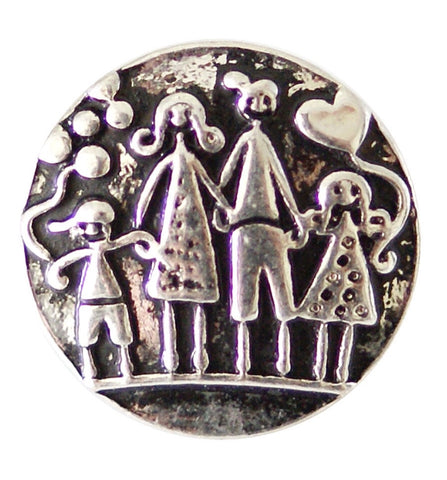Darling Family of 4 Snap Charm