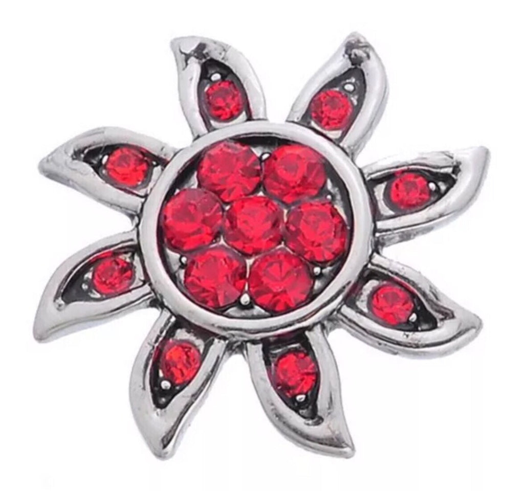 Sun Sparkle Red Snap Charm