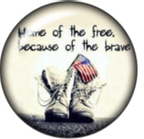 Home of the Free Because of the Brave Glass Snap Charm