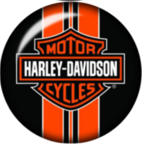 Harley Orange Glass Snap Charm