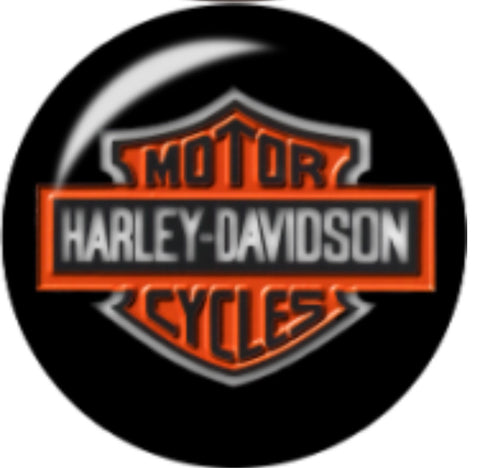 Harley Black Glass Snap Charm
