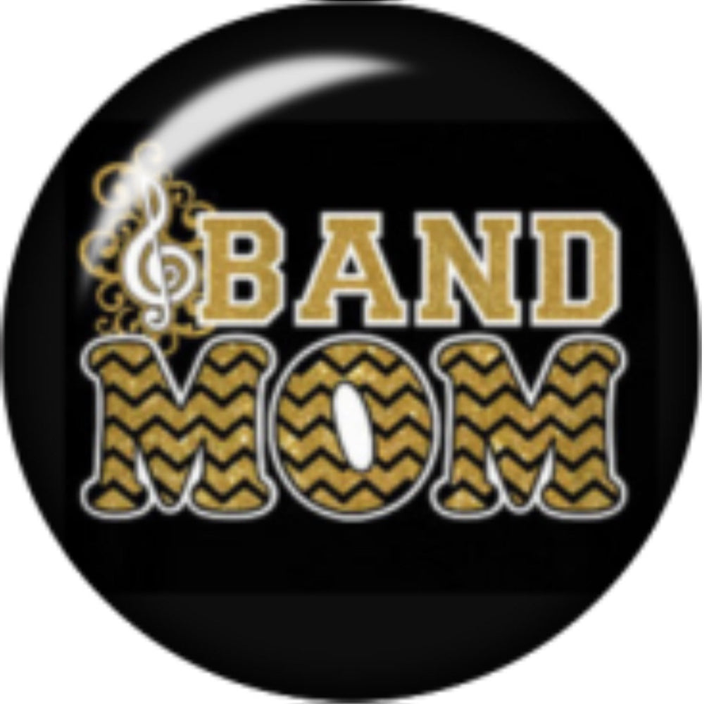 Band Mom Glass Snap Charm