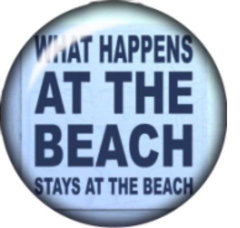 What Happens at the Beach Glass Snap Charm
