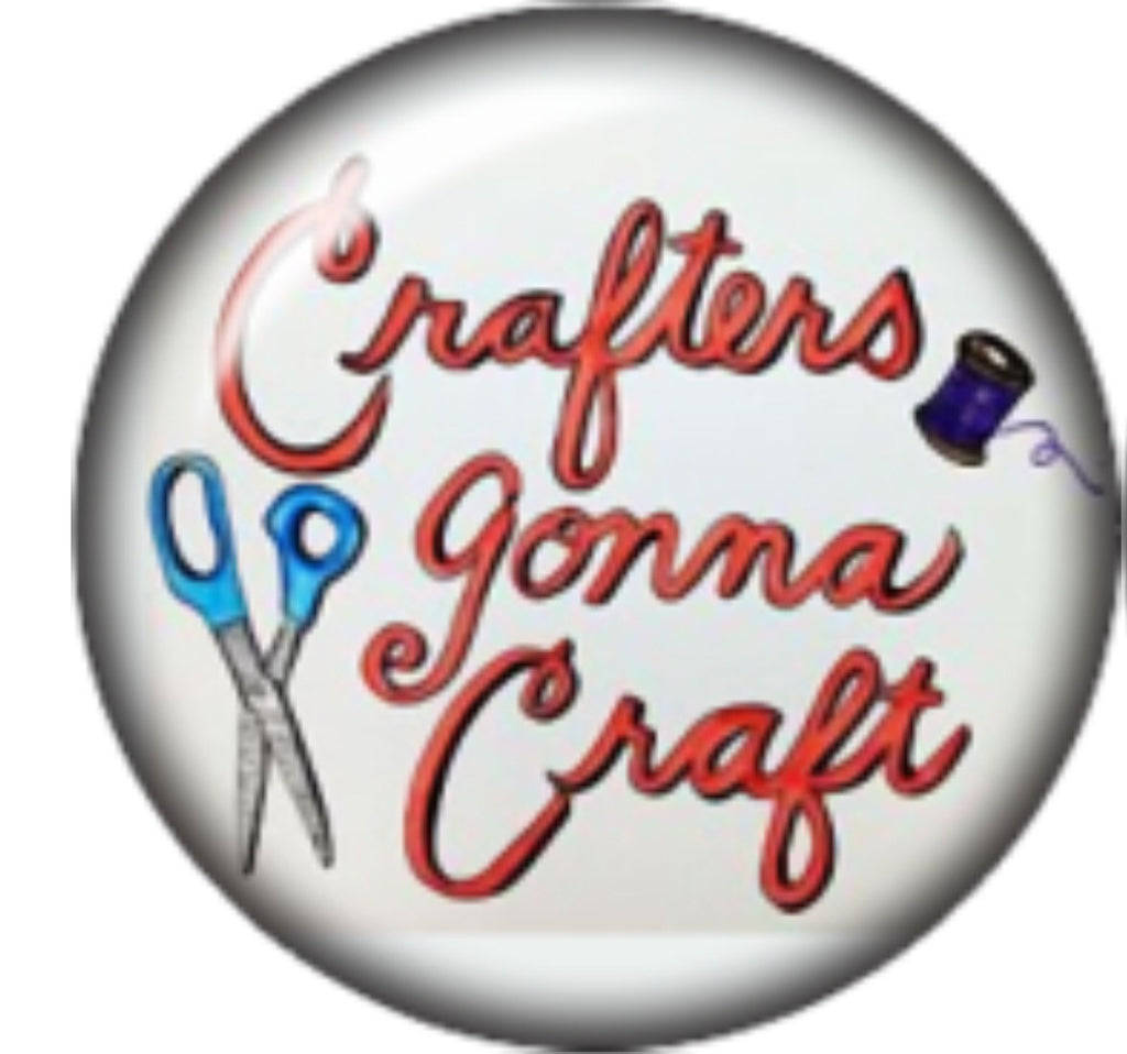 Crafters gonna Craft Glass Snap Charm