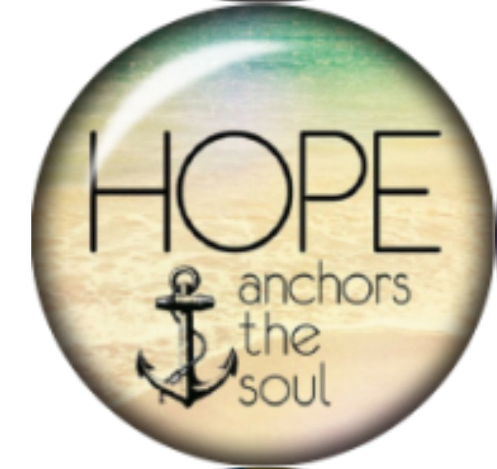 Hope is my Anchor Glass Snap Charm