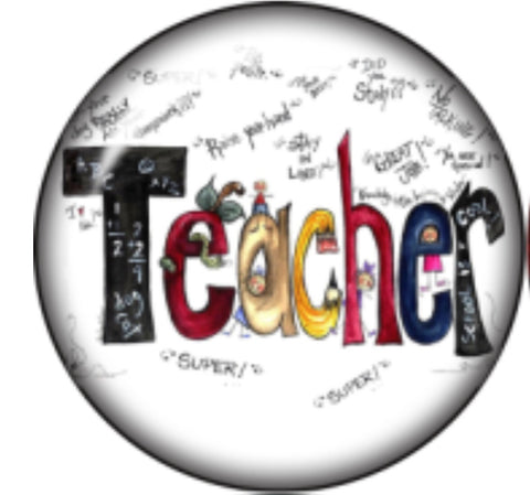Teacher Grafitti Glass Snap Charm