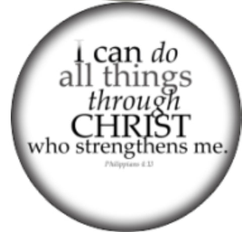 I can do all things through Christ who strengthens me glass Snap Charm