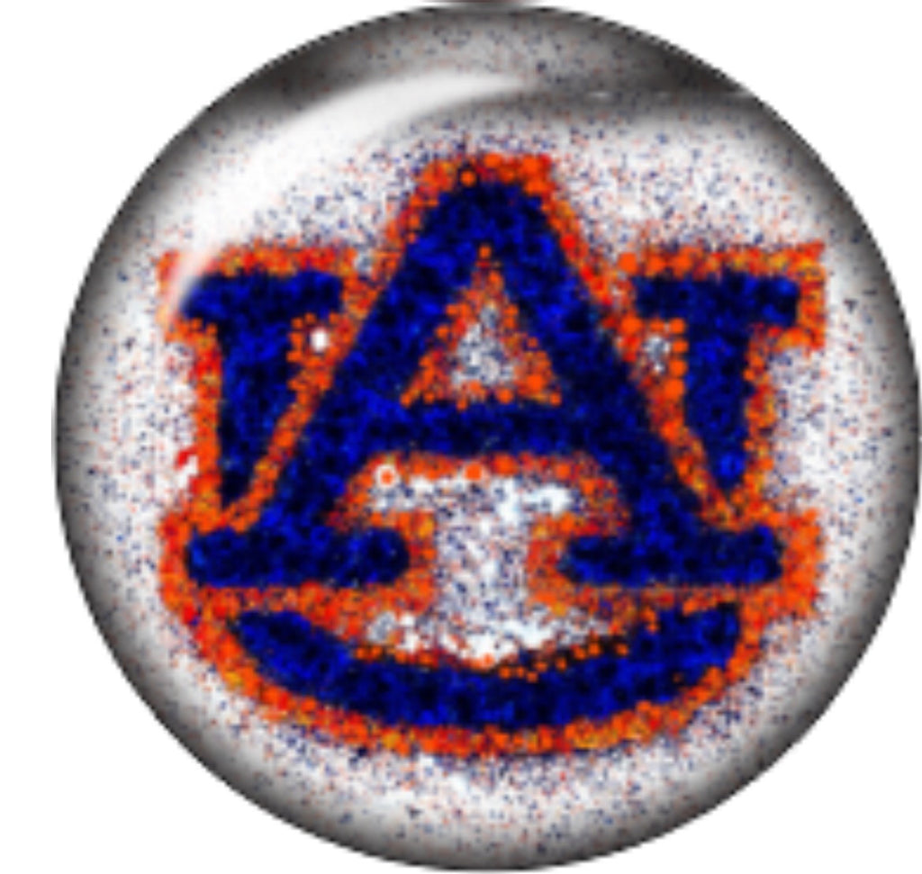Auburn Flecked Glass Snap Charm