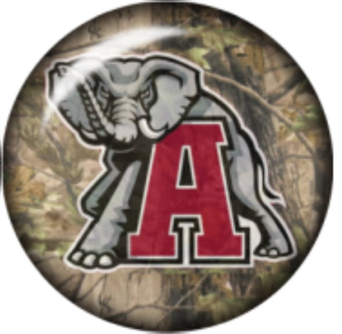 Alabama Camo Glass Snap Charm
