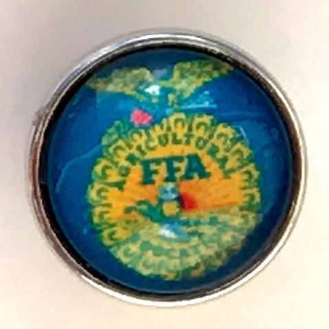 FFA Blue Glass Snap Charm