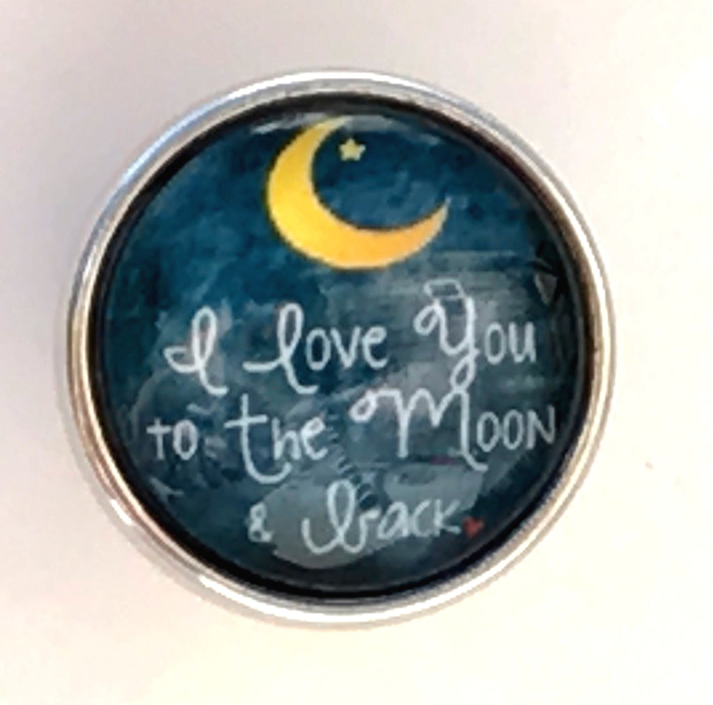I Love You to the Moon & Back Snap Charm