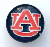 Auburn Blue Glass Snap Charm