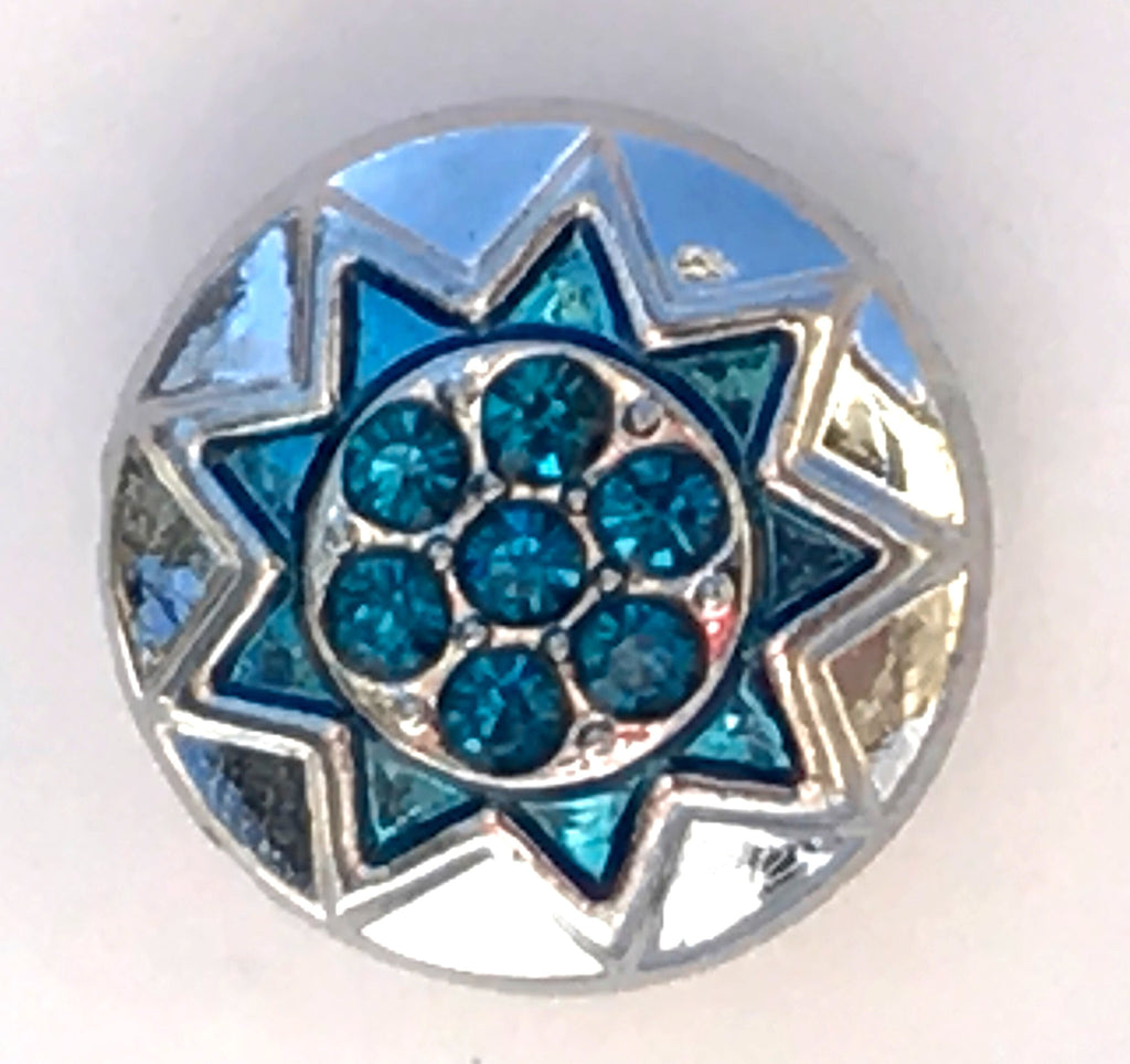 Sun Turquoise Snap Charm