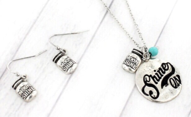 Shine On Necklace & Earring Set