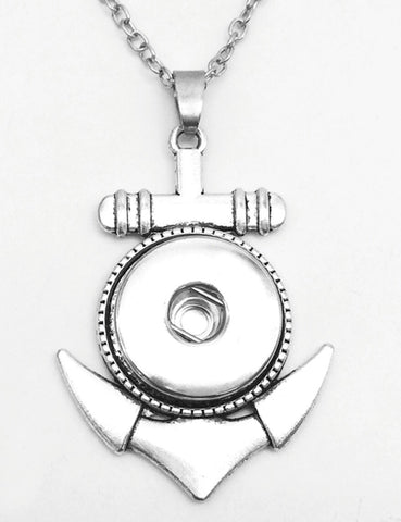 Anchor Small Snap Charm Pendant