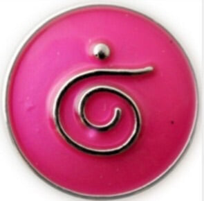 Quirky Swirl Magenta Snap Charm