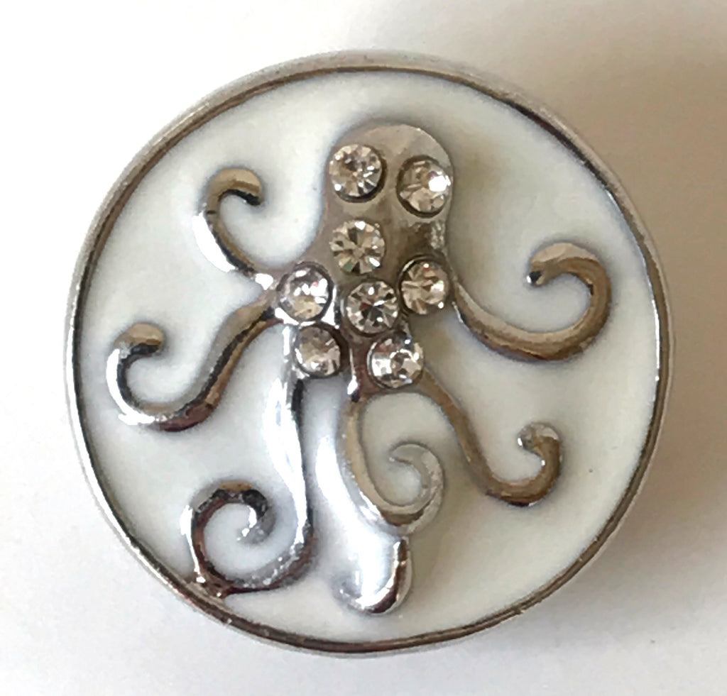 Octopus Sand Colored Snap Charm