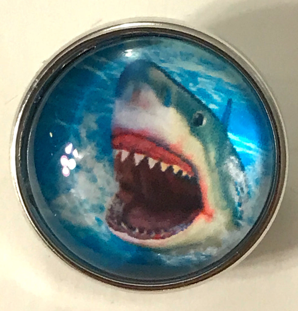 Jaws Glass Snap Charm
