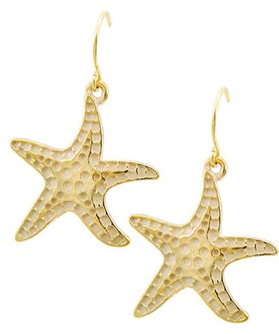 Starfish Gold Earrings