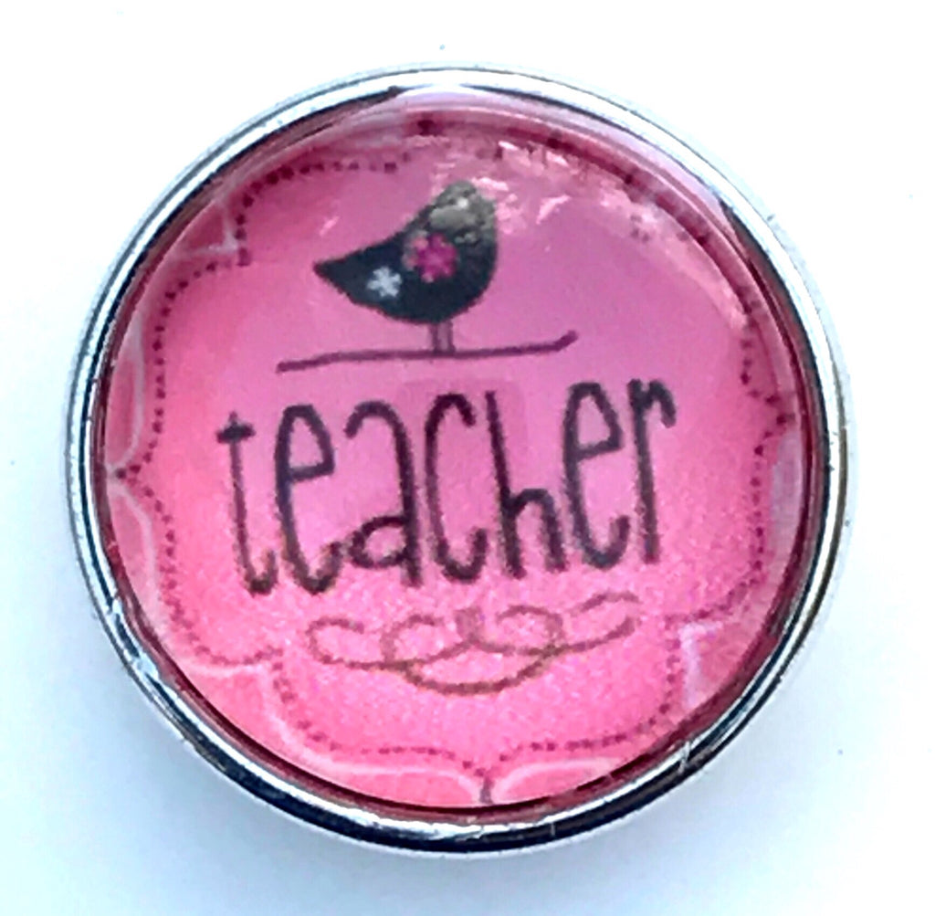 Teacher Salmon Glass Snap Charm